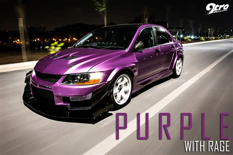 mitsubishi purple mitsubishi evolution 9 purple with rage 9tro