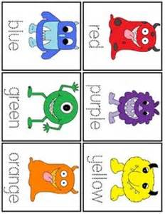 monsters colors 1000 images about color words on color word