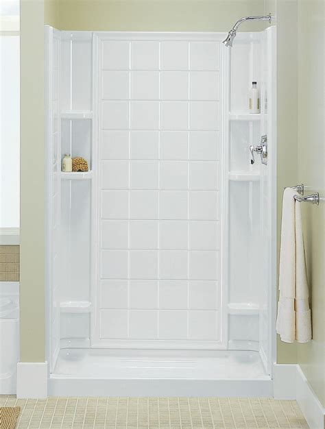 sterling 72100100 96 ensemble 36 series 7210 tile alcove