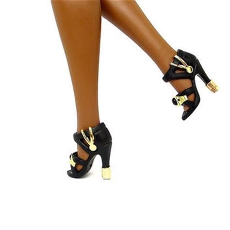 doll shoes black fashion doll from enchantedstyles on