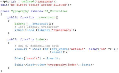 artikel format teks mengatur format teks dengan codeigniter