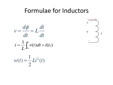 current of an inductor circuits