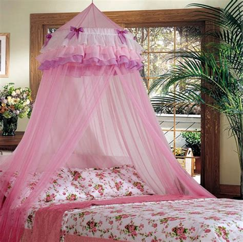 Lace Bed Canopy Lace Bed Mosquito Netting Mesh Canopy Princess Dome Bedding Net Ebay