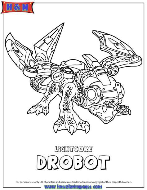 Skylanders Giants Tech Lightcore Drobot Coloring Page H Skylander Boy And Coloring Pages