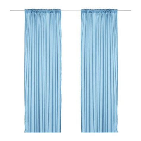 Light Blue Sheer Curtains Ikea Torhild Sheer Curtains Window Panels Light Blue Brown