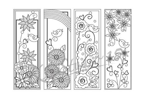 printable bookmarks spring happy spring coloring bookmarks page instant by klstudio15