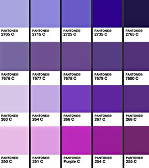 shades of purple chart your wedding color purple exclusively weddings blog