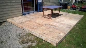 kunststoffsockel terrasse diy pallet patio furniture pallet deck