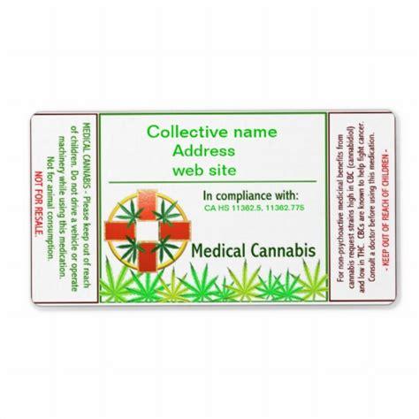 Marijuana Label Template