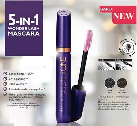 The One 5 In 1 Lash Waterproof Mascara Free Curler oriflame tha one 5 in one lash waterproof mascara
