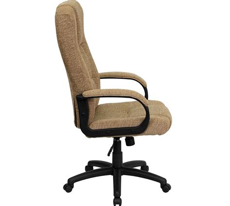 swivel office chair ergonomic home high back beige fabric executive swivel