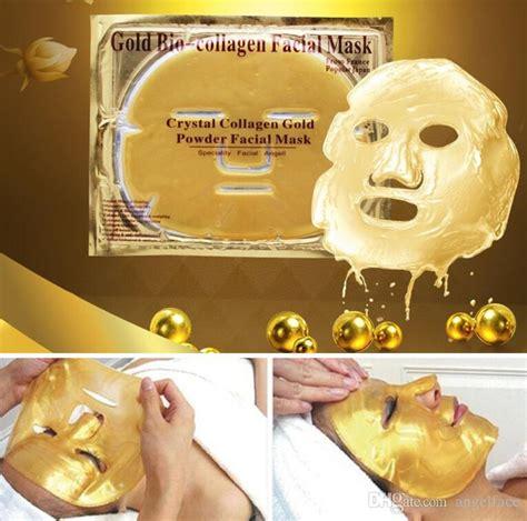 Gold Bio Collagen Mask Masker Wajah Collagen Gold gold bio collagen mask collagen gold powder mask moisturizing whitening anti