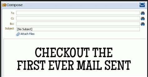 email first media this was the first email and you won t believe it was just