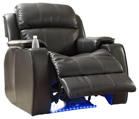 homelegance jimmy power reclining chair with led