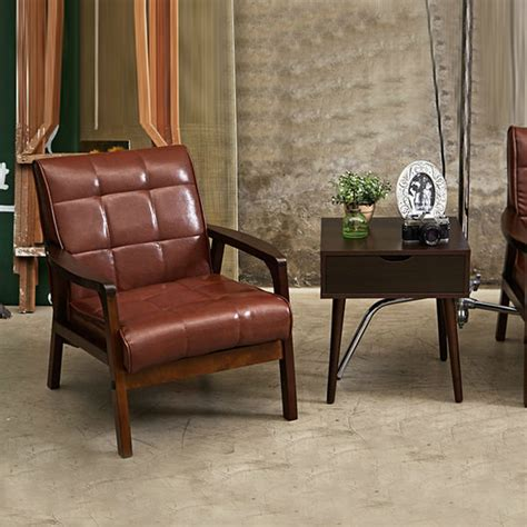 leather living room chair simple chair armchair sofa set living room furniture home