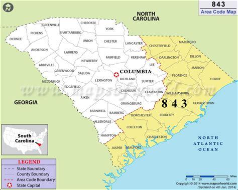 map carolina area codes 843 area code map where is 843 area code in south carolina