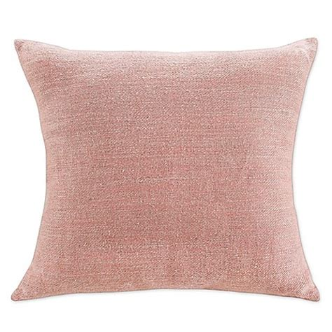 bed bath beyond decorative pillows kas room nola 18 inch x 18 inch blush decorative pillow