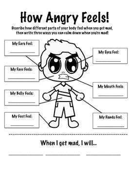 printable anger questionnaire stress management how anger feels worksheet jobloving