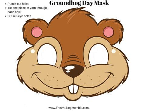 printable groundhog mask fun groundhog day activities and free printable s for kids
