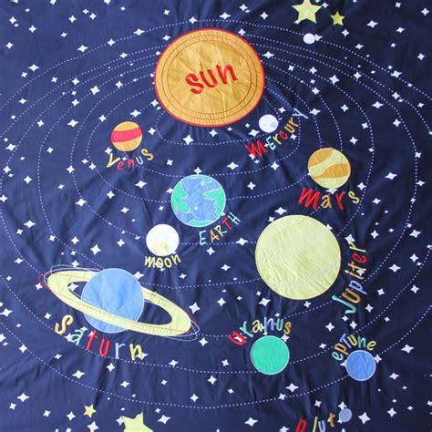 kids blue solar system bedding the land of nod solar system bedding