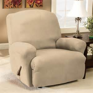 sure fit slipcovers stretch suede recliner slipcover atg