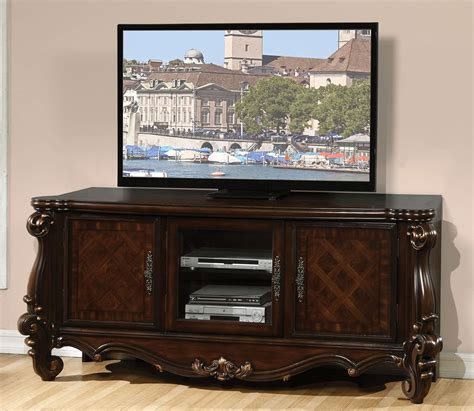 oak media console versailles cherry oak media console acme 91329 usa