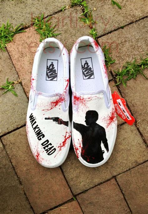 the walking dead slippers painted walking dead shoesvans slipon by