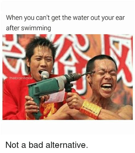 can you go swimming after you get a tattoo when you can t get the water out your ear after swimming