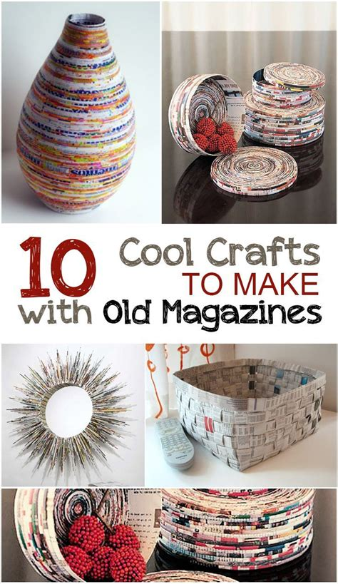 recycled home decor projects creative crafts to make with old magazines magazine