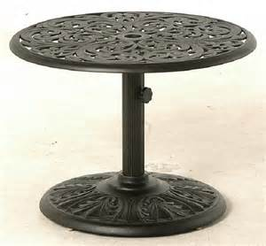 Patio Umbrella Table Chateau By Hanamint Luxury Cast Aluminum Patio Furniture