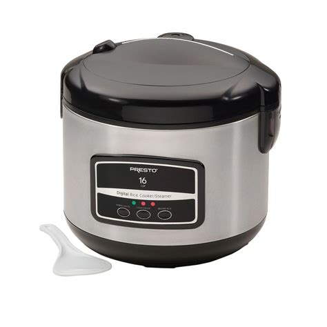 Rice Cooker Digital presto 16 cup digital stainless steel electric rice cooker