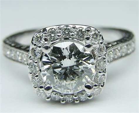 engagement ring halo engagement ring setting floral