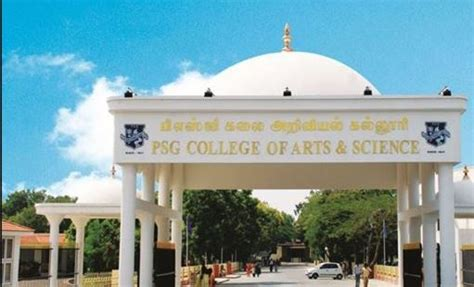 Psg College Mba by Psg College Of Arts And Science Coimbatore Course Fees