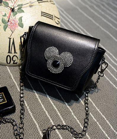 Tas Selempang Kotak Bintang Fashion Sling Bag Hadiah jual tas selempang rantai mickey kecil tali hitam cantik wanita bahu the logos