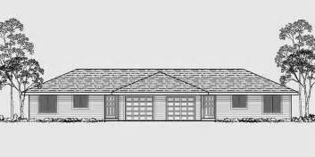 Duplex House Plans With Garage by One Level Duplex House Plans Corner Lot Duplex Plans