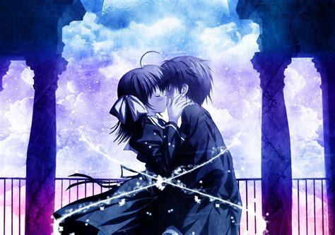 imagenes anime love kiss fondo pantalla anime love kiss