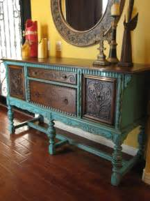 Turquoise Buffet Table European Paint Finishes World European Sideboard