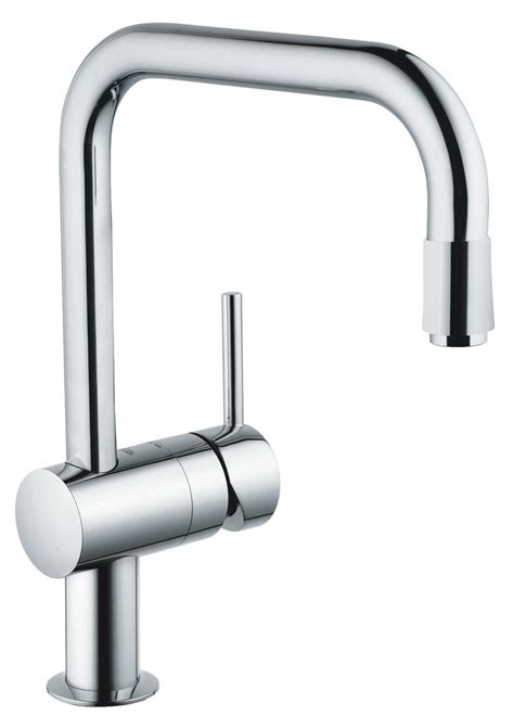 grohe minta kitchen sink mixer tap with pull spray