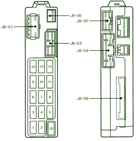 1997 mazda 626 junction fuse box diagram circuit wiring