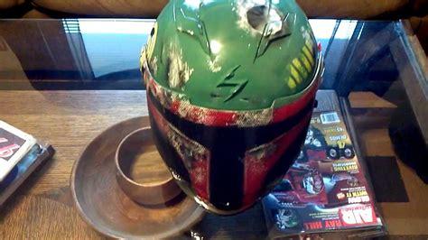 custom painted boba fett wars motorcycle helmet
