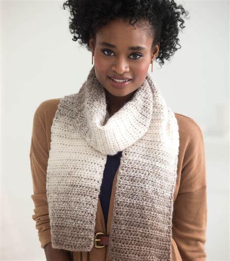 pattern ease joann easy crocheted scarfie joann jo ann