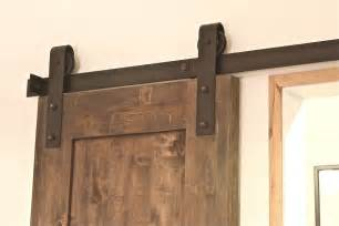 Hanging Sliding Barn Doors A Modern Hanging Barn Door