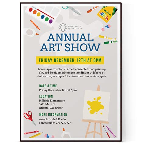 school art show flyer template psd docx the flyer press