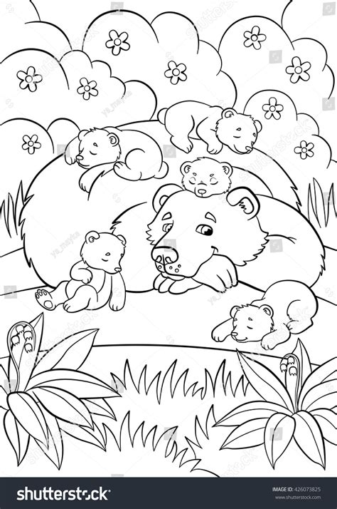 baby wild animals coloring pages coloring pages wild animals kind bear stock vector