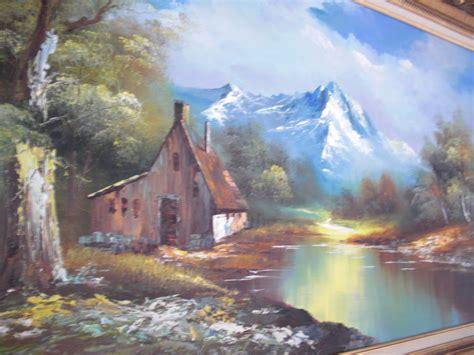 Vintage G Whitman Beautiful Landscape Oil Painting Beautiful Landscape Paintings