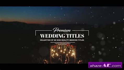 Wedding 187 Free After Effects Templates Videohive Free Ae Projects Wedding Title Templates After Effects
