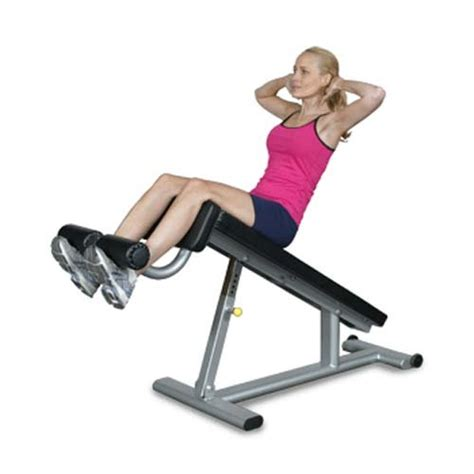 ab exercise on bench red s home gym inflight fitness ab bench