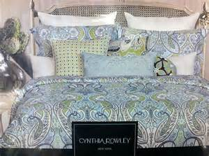 cynthia rowley paisley bedding 6 pc new cynthia rowley queen paisley floral comforter set