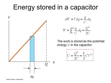energy stored in a capacitor definition chapter 27 capacitance and dielectrics ppt