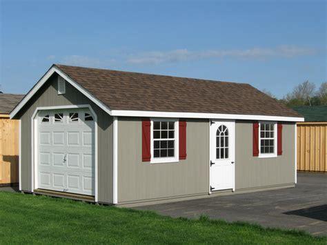 amish built   frame garage storage shed duratemp